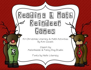 Reindeer Games: Christmas Literacy and Math Activities