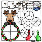 Reindeer Spinner Games Clipart Bundle