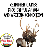 Christmas Writing Activity Reindeer Games Dice Simulation