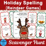 Christmas Spelling Scavenger Hunt
