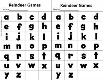 Reindeer Games- Holiday/Christmas Letter and Number Recognition Games