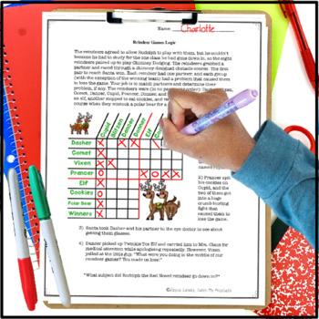 Christmas Logic Puzzle : Reindeer Games