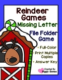 Reindeer Games Missing Letters File Folder Game Plus FREE GIFT