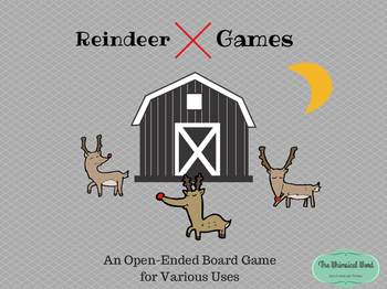 Reindeer Games Open-Ended Game Board Teletherapy Speech