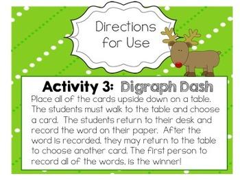 Reindeer Games: Short Vowel Digraph Activities
