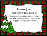 Reindeer Games - Teen Number Match Up