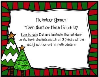 Reindeer Games - Teen Number Match Up