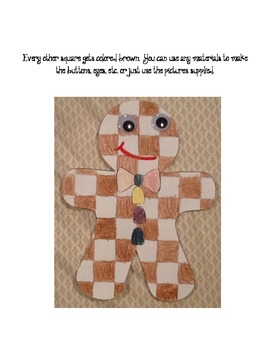 Reindeer, Gingerbread Boy and House Pattern Craftivity Pack