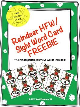 Reindeer HFW/Sight Word Card FREEBIE