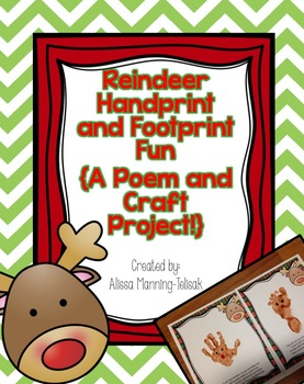 Reindeer Handprint and Footprint Fun {A Poem and Craft Project!}