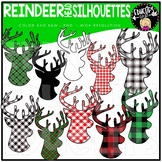 Reindeer Head Silhouettes Clip Art Set {Educlips Clipart}