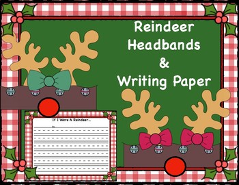 Reindeer Headbands & Writing Paper