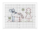 Reindeer Holiday Coordinate Graphing Picture
