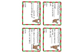 Reindeer Homophones Scoot