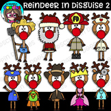 Reindeer In Disguise 2 Clipart {Scrappin Doodles Clipart}