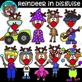 Reindeer In Disguise Clipart {Scrappin Doodles Clipart}