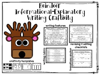 Reindeer Informational Writing Project PLUS Craftivity