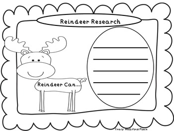 Reindeer Informative Writing