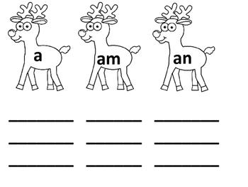 Reindeer Kindergarten Sight Words