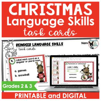 Christmas Task Cards Language Skills