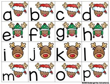 Reindeer Letter Hunt-A Letter Matching Activity