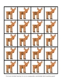 Reindeer Letter Matching Game