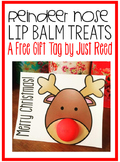 Reindeer Lip Balm Treat Gift Tags