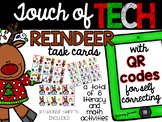Reindeer Literacy and Math Activities with QR Code Task Cards