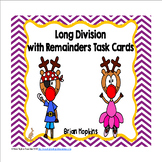 Reindeer Long Division With Remainders Task Cards