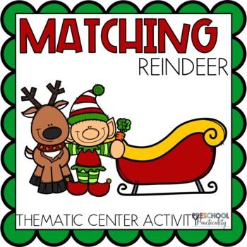 Reindeer Match Game Preschool