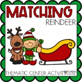 Reindeer Matching Activities for Toddlers, Preschool, and PreK