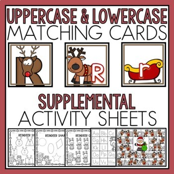 Reindeer Match and Clip Card Bundle for Toddlers, Preschool, and PreK
