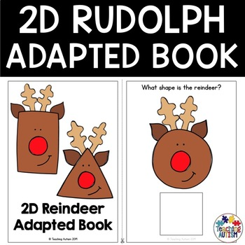 Reindeer Math | 2D Shape Adapted Book for Special Education