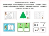 Reindeer Math Centers Common Core Ready to Go First Grade