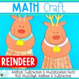Christmas Craft / Reindeer Math Craft