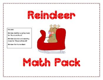 Reindeer Math Pack: Addition and Ten Frames