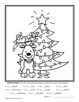 Reindeer Math Packet for Kindergarten and First Grade