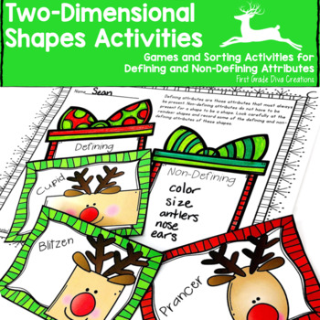 Shapes Activities 2D-Christmas Math Activities