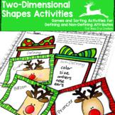 2D Shape Activities-Christmas Math Activities