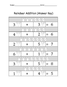 Reindeer Math (Seasonal)