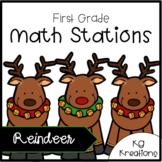 1st Grade Math Centers: Reindeer