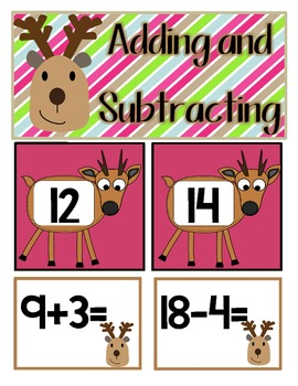 Reindeer Math and Literacy Centers