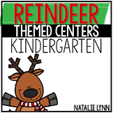 Reindeer Math and Literacy Centers for Kindergarten