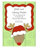 Reindeer Math and Literacy Packet