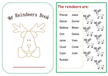 Reindeer Minibook