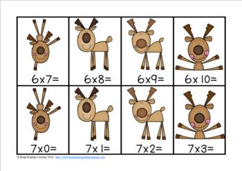 Reindeer Multiplication Race