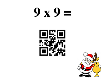 Reindeer Multiplication with QR Codes