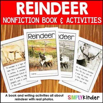 Reindeer Nonfiction Book with Activities
