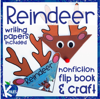 Reindeer Nonfiction Flip book and Craft Activity