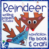 Reindeer Nonfiction Reading and Writing Craft Activity